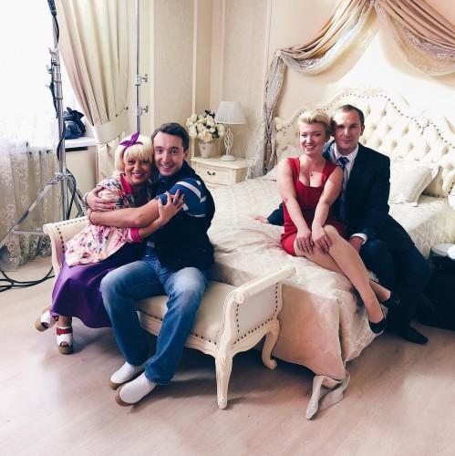 Михаил Присяжнюк на съемках