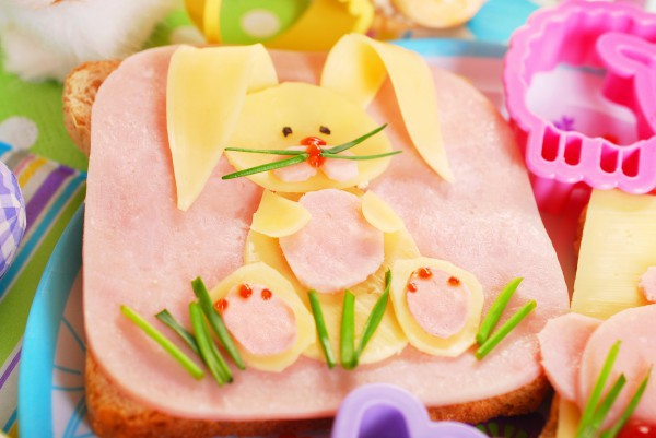 Бутерброд в виде кролика