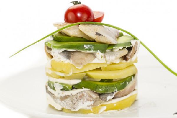 Рецепт                  Новогодняя закуска из сельди и авокадо