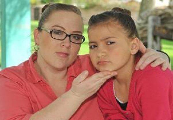 Керри Кэмпбелл вместе с дочерью
