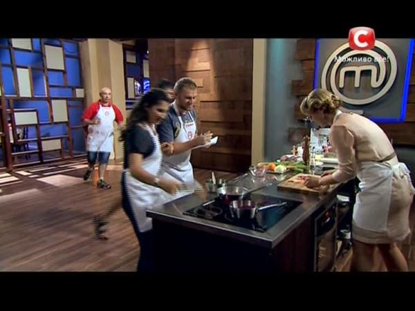 Первый конкурс на МастерШеф 4: Блюда от Ольги Мартыновской Стоп-кадр с видео