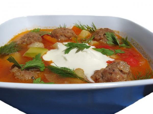 Рецепт                  Овощной суп с фрикадельками