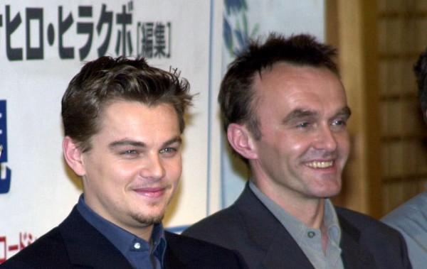Ди Каприо и Бойл на пресс-конференции по фильму Пляж, 2000 год