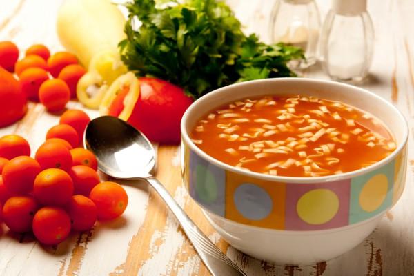 Рецепт                  Постный суп из фасоли с томатами