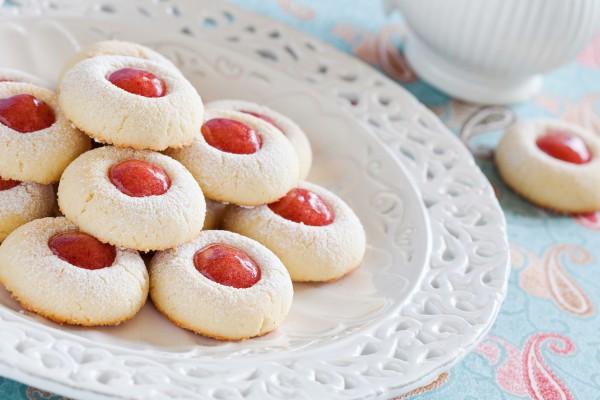 Печенье на День Валентина с джемом
