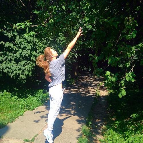 Яна Соломко показала фото с пробежки