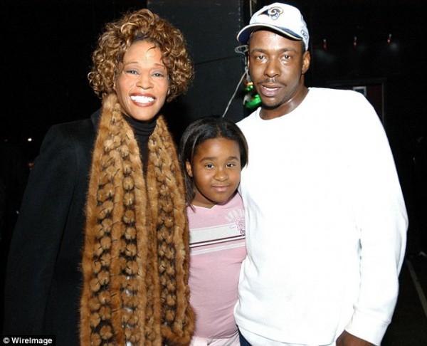Маленькая Бобби Кристина с мамой Уитни Хьюстон и отцом Бобби Брауном