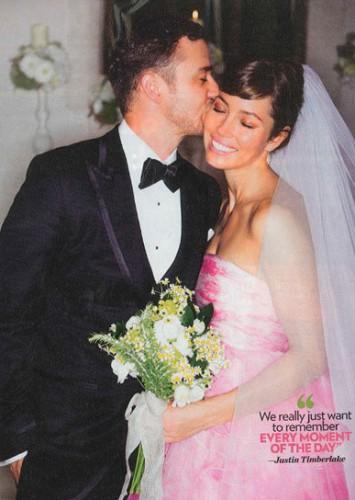 Фотографии со свадьбы Джастин Тимберлейк и Джессика Биль продали американскому таблоиду