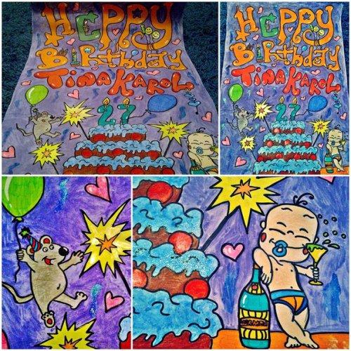 Такой рисунок фанаты подарили Тине в день рождения