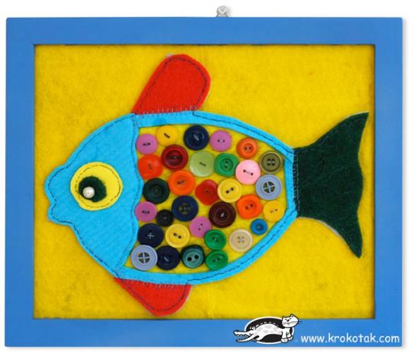 Поделка для детей рыбка