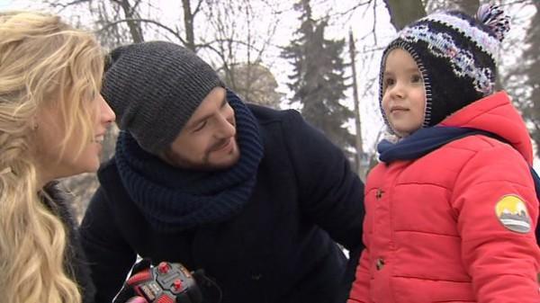 Сергей Мельник с Мариной и ее сыном Матвеем