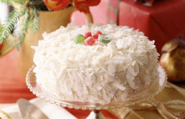 Рецепт                  Новогодний торт Рафаэлло от Юлии Высоцкой