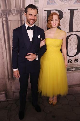 Джессика Честейн с супругом