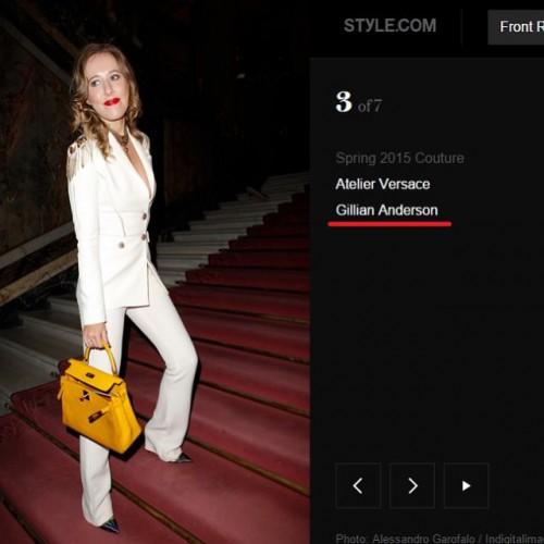 Ксения Собчак на показе Versace