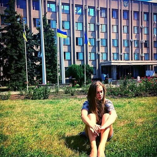 Яна Соломко побывала в восточной Украине