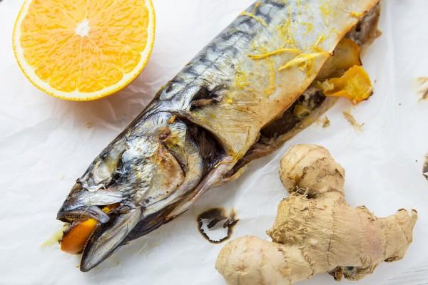 Рецепт скумбрии с апельсином и имбирем