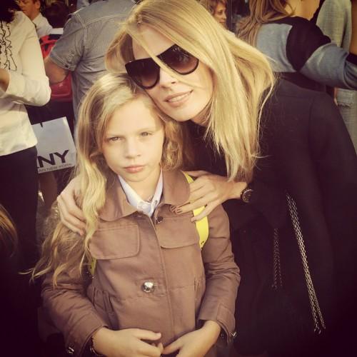 Ольга Фреймут отправила свою дочь в школу