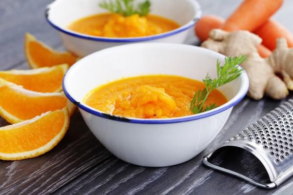 Постный морковный суп с апельсином