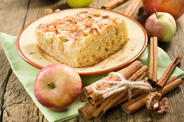 рождественский пирог с яблоками и корицей