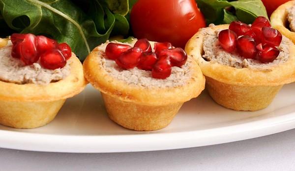 Рецепт                  Тарталетки с курино-грибным паштетом