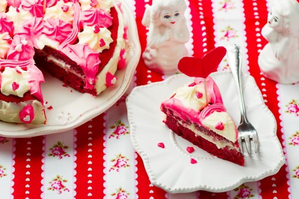 Торт Красный бархат на День Валентина