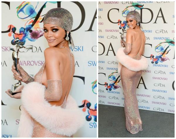 Рианна получила награду Икона стиля 2014 на церемонии CFDA Fashion Awards
