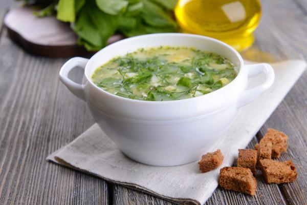 Французский суп со щавелем