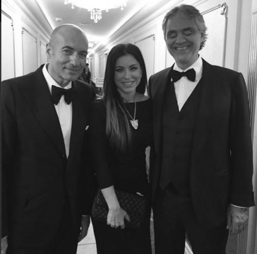 Ани Лорак с Игорем Крутым и Андреа Бочелли