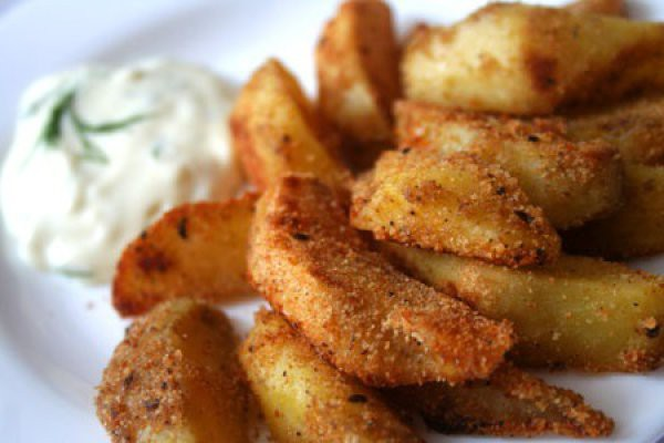 Рецепт                  Хрустящий картофель в специях