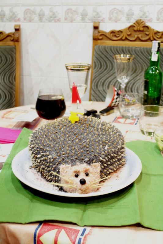 Торт с фруктами квадратный фото 3
