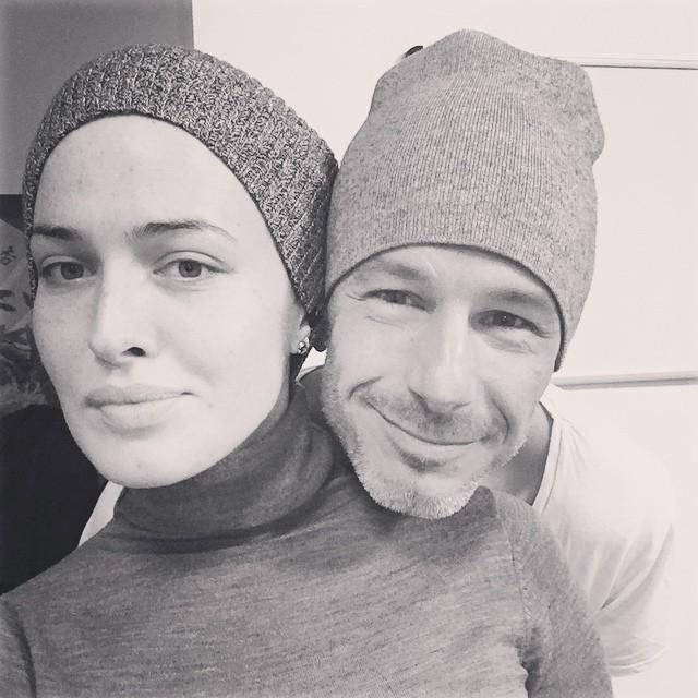 Даша Астафьева с Истаном Розумным во время съемок