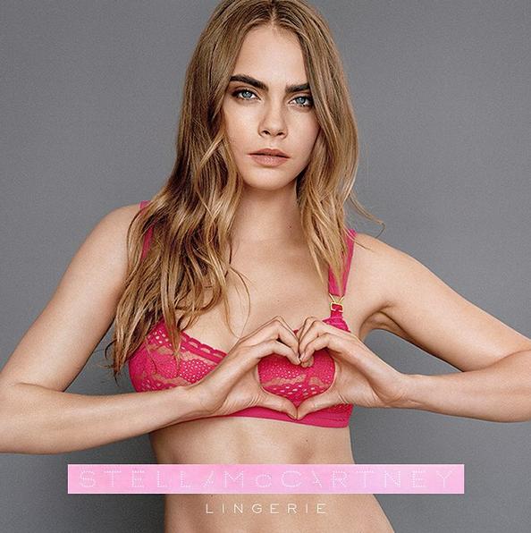 Модель Кара Делевинь в рекламной кампании