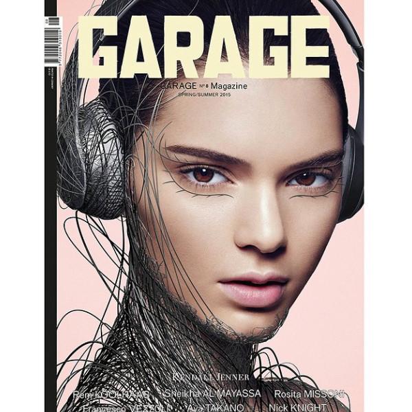 Модель Кендалл Дженнер на обложке Garage