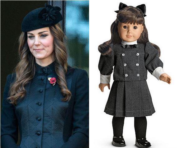 Образы Кейт Миддлтон напомнили журналистам наряды куклы Саманты