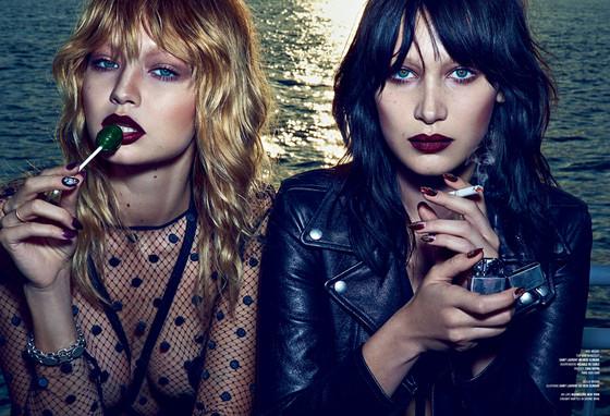 Модели Белла и Джиджи Хадид в фотосессии для V magazine