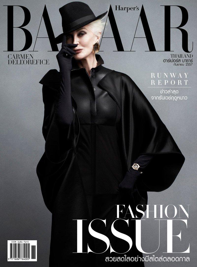 Блистательная Кармен Делль'Орефайс появилась на страницах Harper's Bazaar