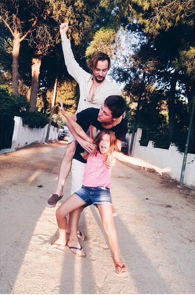 Алан Бодоев с дочерью Лолитой и сыном Борисом