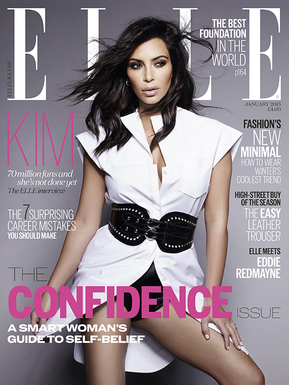 Ким украсила сразу три обложки журнала Elle