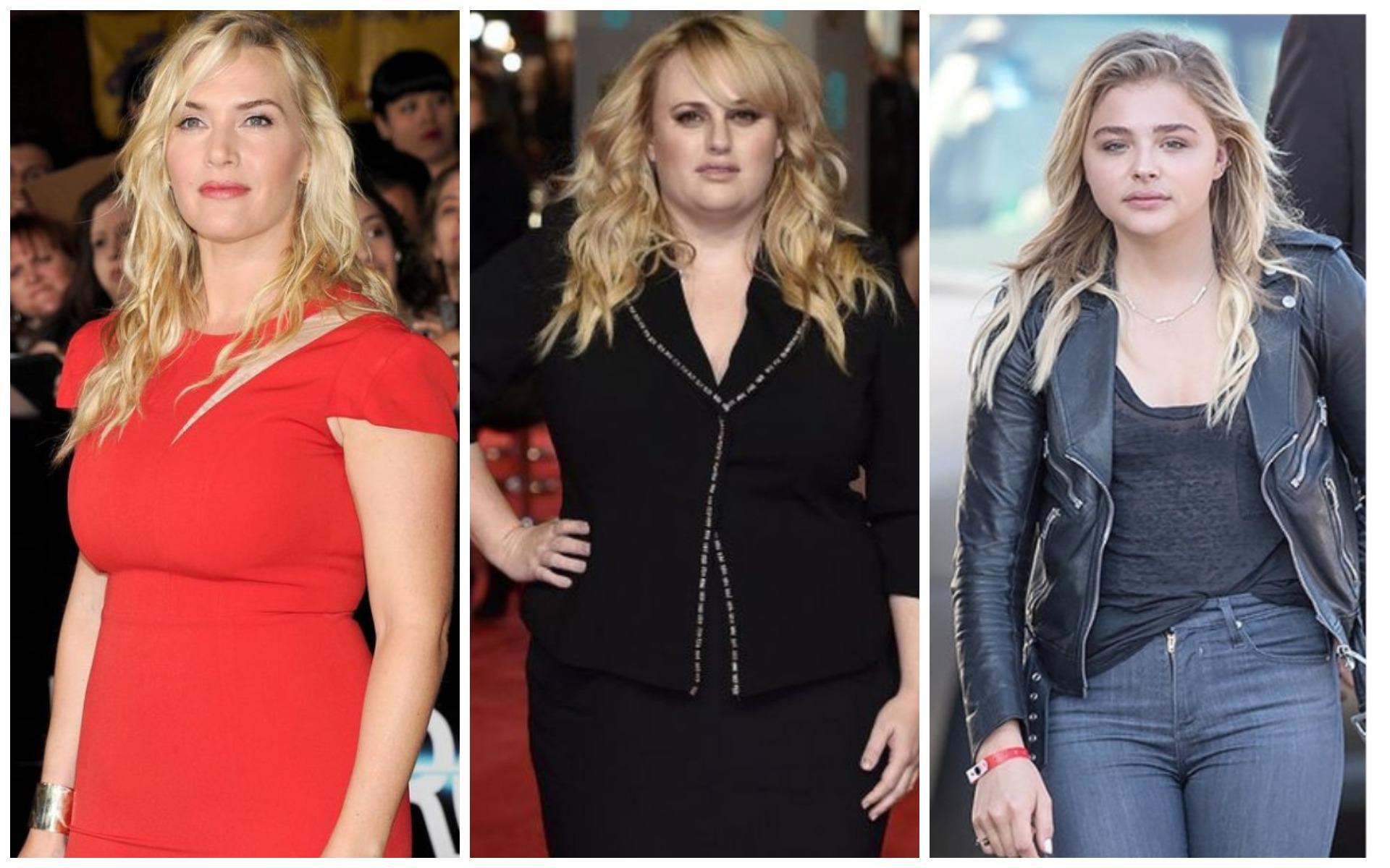 Лишний вес делает заметно старше актрис Кейт Уинслет, Ребел Уилсон и Хлою Морец