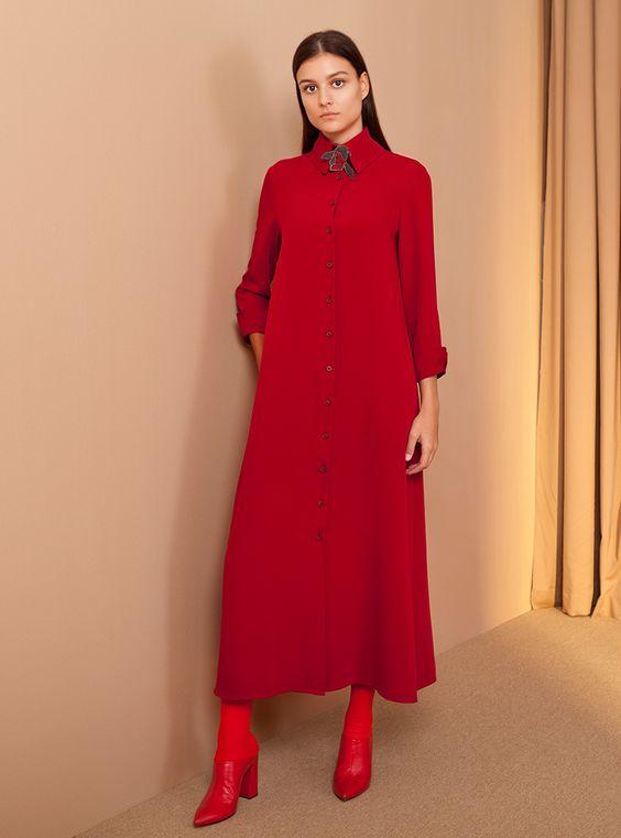 Платье-рубашка для осени