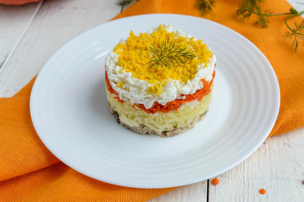 Классическая мимоза салат рецепт с