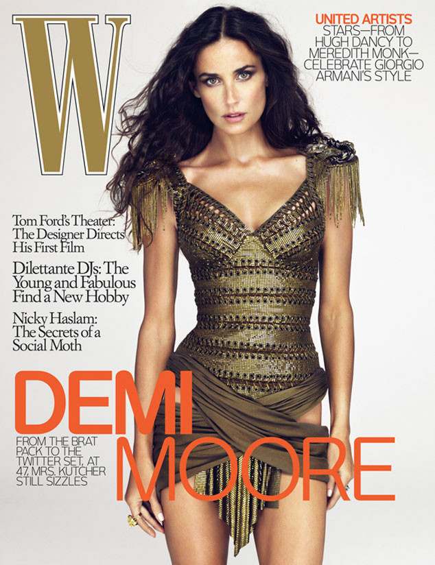 Фотошоперы W Magazine изменили телосложение актрисы Деми Мур