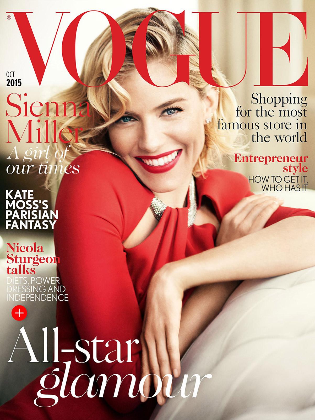 Актриса Сиенна Миллер в фотосессии для британского  Vogue