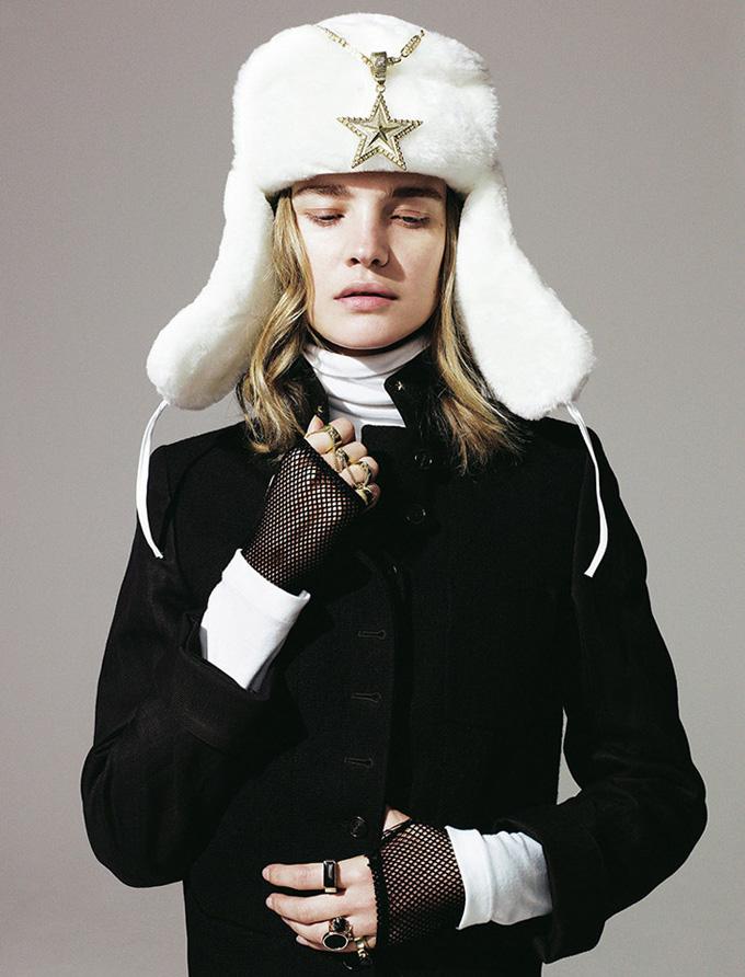 Наталья Водянова в фотосессии для журнала Madame Figaro