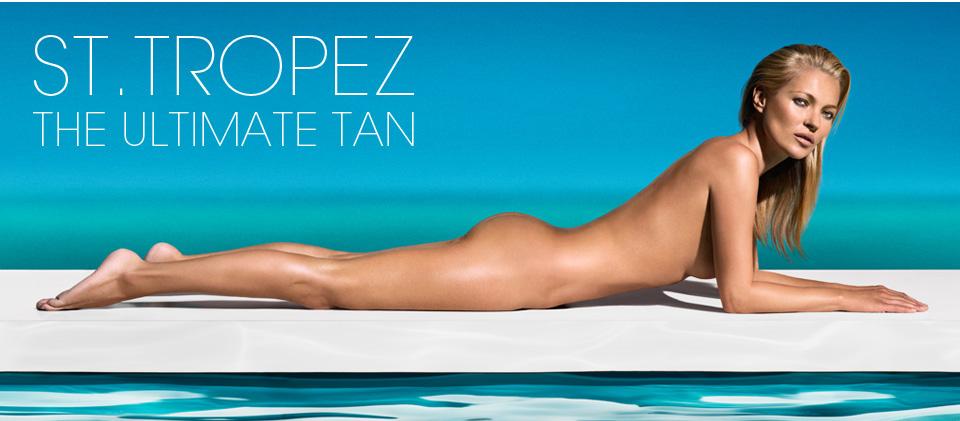 Кейт Мосс в рекламной кампании St Tropez