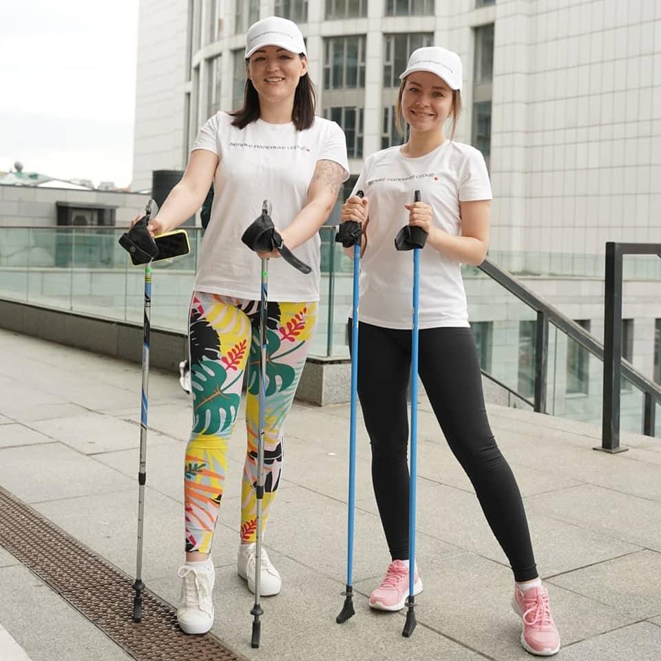 Благотворительная тренировка по скандинавской ходьбе: как это было