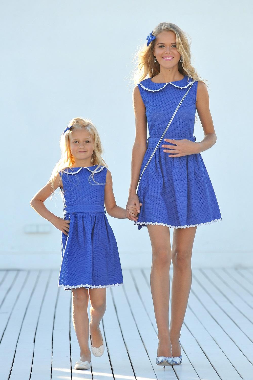 В коллекции были представлены платья и для самых маленьких