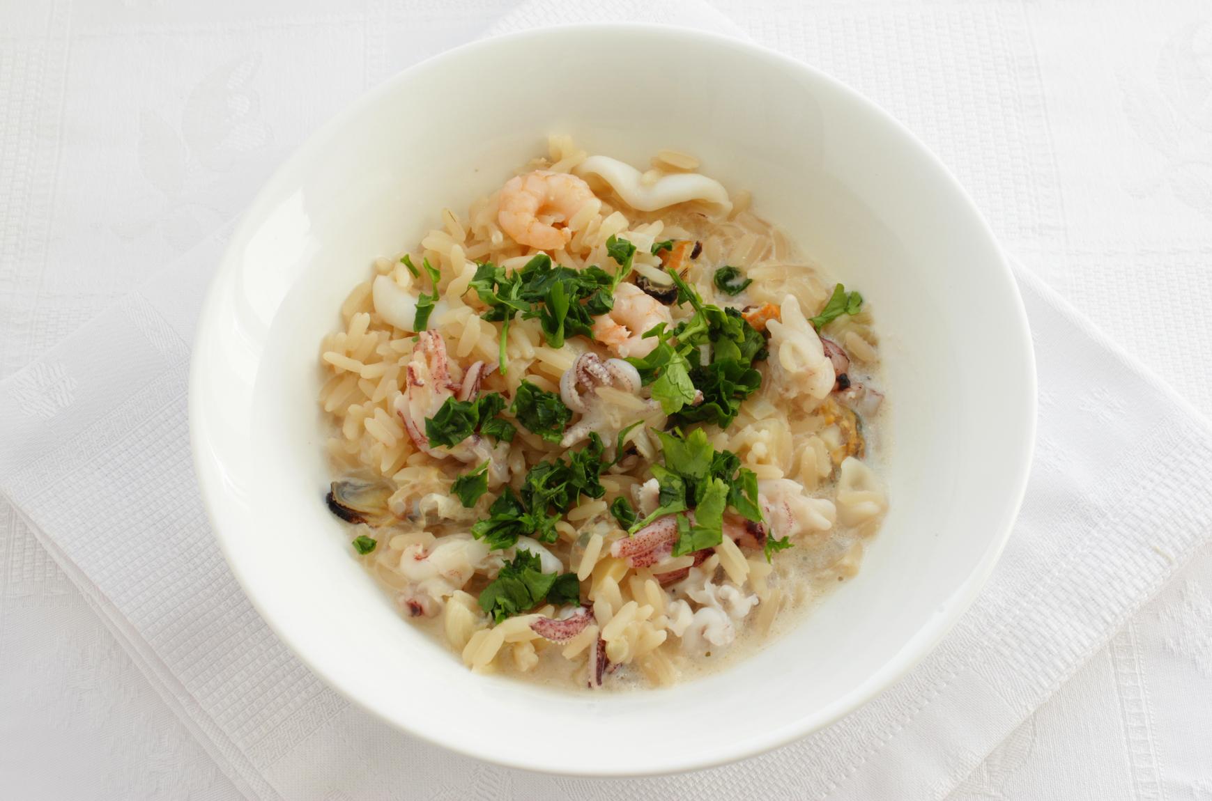 Рис с соусом и морепродуктами рецепт55