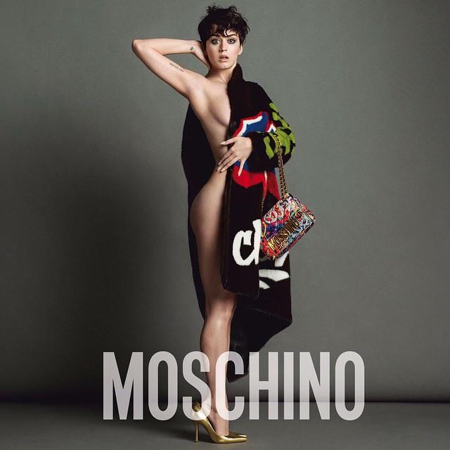 Певица Кэти Перри в рекламной кампании для Moschino