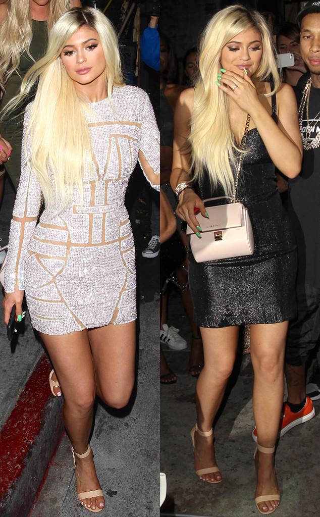 Кайли Дженнер примерила два стильных образа на вечеринке